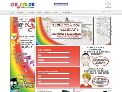 eCommerce Gb Color e Cartucce | Portfolio What a Show S.r.l. | https://www.whatashow.it