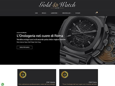 Creazione Sito WEB Gold & Watch gworologi.com | Portfolio What a Show S.r.l. | https://www.whatashow.it